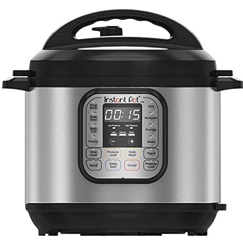 Instant Pot IP - DUO60, Olla de presión programable 7 en 1, 5.7L / 1000W 220V, tecnología de tercera generación, bol de cocina y exterior en acero inoxidable - versión inglesa